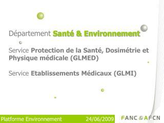 Département Santé & Environnement