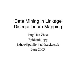 Data Mining in Linkage Disequilibrium Mapping