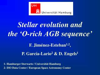 Stellar evolution and  the 'O-rich AGB sequence'