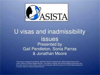 U visas and inadmissibility issues