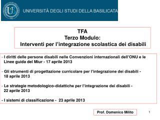 Prof. Domenico Milito