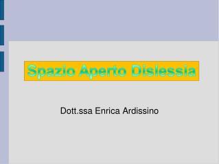 Dott.ssa Enrica Ardissino