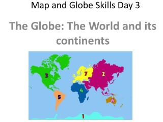 Map and Globe Skills Day 3