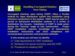 Installing Corrugated Stainless Steel Tubing