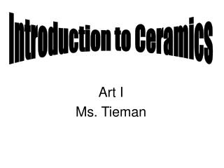 Art I Ms. Tieman