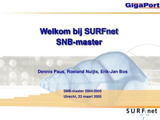 Welkom bij SURFnet SNB-master