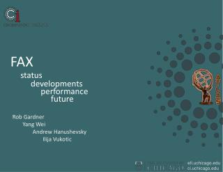 FAX status developments performance future