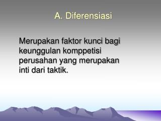 A.  Diferensiasi
