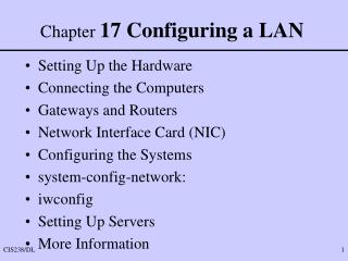 Chapter  17 Configuring a LAN