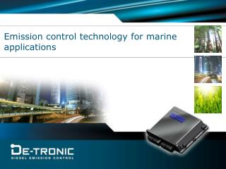 Emission control technology for marine applications