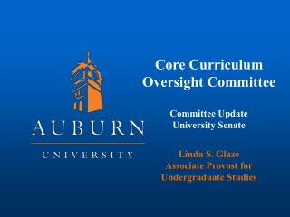 Core Curriculum Oversight Committee Committee Update University Senate Linda S. Glaze