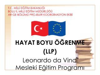 HAYAT BOYU ÖĞRENME (LLP) Leonardo da Vinci  Mesleki Eğitim Programı