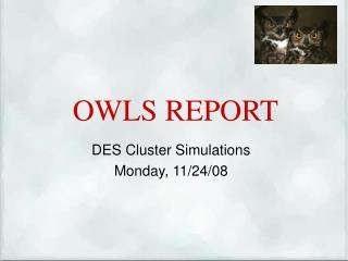OWLS REPORT