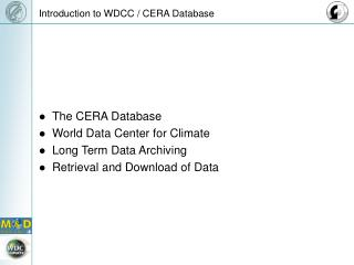 Introduction to WDCC / CERA Database