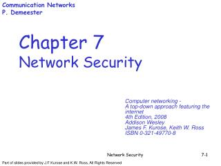 Chapter 7 Network Security