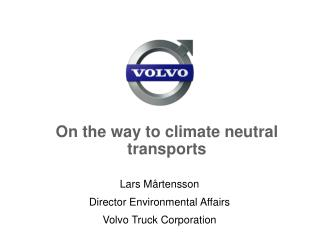 On the way to climate neutral transports