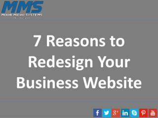 7 Reasons to Redesign Your Business Website