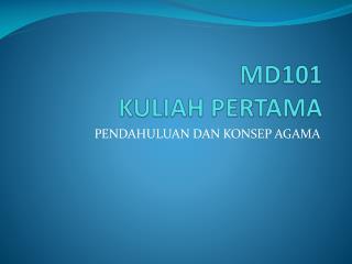 MD101 KULIAH PERTAMA