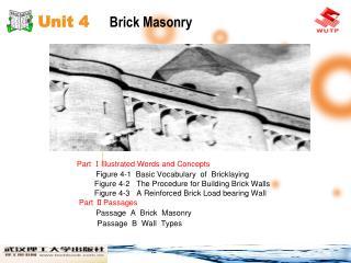 Unit 4     Brick Masonry