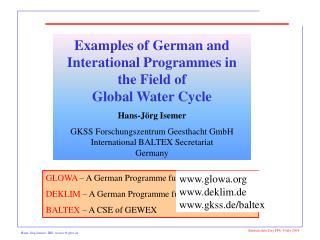 Hans-Jörg Isemer, IBS,  isemer@gkss.de