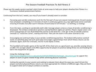 Pre-Season Football Practices To Aid Fitness 3