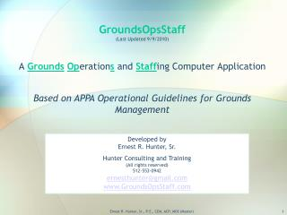 GroundsOpsStaff Last Updated 9