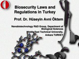Biosecurity  Laws and Regulations  in Turkey