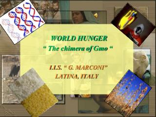 "WORLD HUNGER             "" The chimera  of Gmo  "" I.I.S.  "" G. MARCONI"""