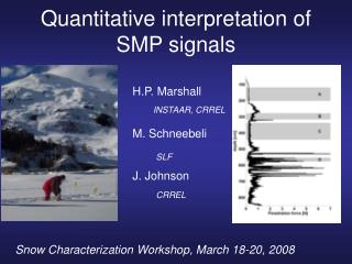 Quantitative interpretation of SMP signals