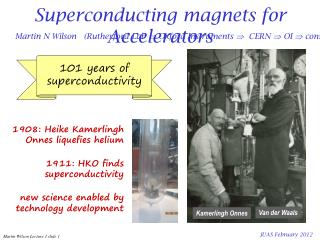 Superconducting magnets for Accelerators