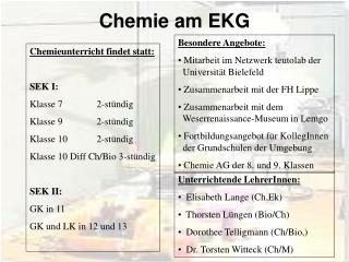 Chemie am EKG