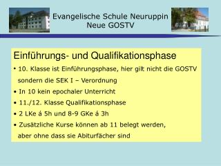 Evangelische Schule Neuruppin Neue GOSTV