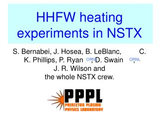 HHFW heating experiments in NSTX