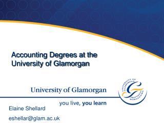 Accounting Degrees at the University of Glamorgan