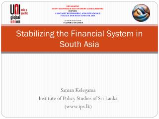 Stabilizing the Financial System in South Asia