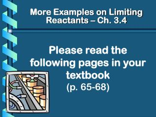 Please read the following pages in your textbook (p. 65-68)