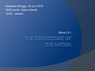 the conscience of  the nation