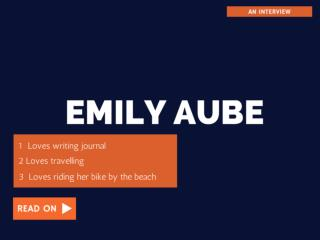 Emily Aube on how to deal with anxiety and panic attacks