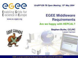 EGEE Middleware Requirements  Are we happy with HEPCAL? Stephen Burke, CCLRC Loose Cannon