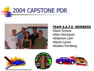 2004 CAPSTONE PDR