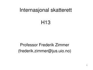 Internasjonal skatterett H13