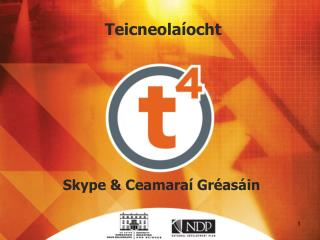 Skype & Ceamaraí Gréasáin
