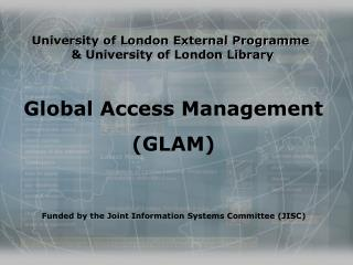University of London External Programme   & University of London Library