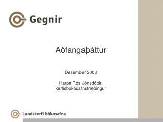 Aðfangaþáttur