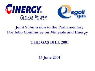Joint Submission to the Parliamentary  Portfolio Committee on Minerals and Energy