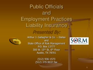 Public Officials and Employment Practices Liability Insurance