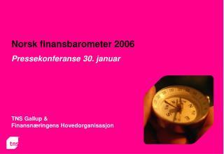 Norsk finansbarometer 2006