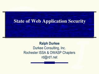 State of Web Application Security