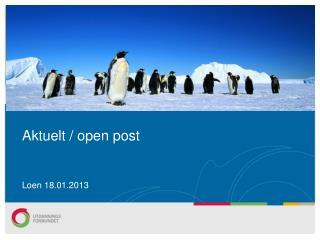 Aktuelt / open post