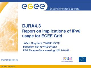 DJRA4.3 Report on implications of IPv6 usage for EGEE Grid